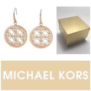 Michael Kors RGT Monogram Pave Set Drop Earrings